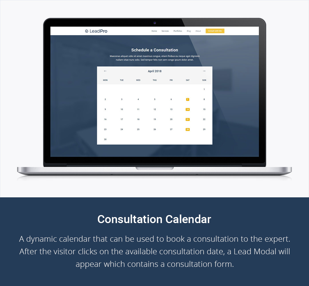 Consultation Calendar