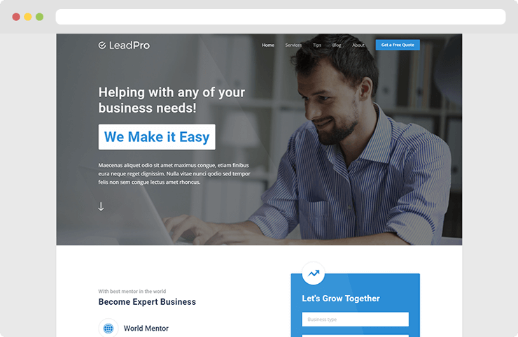 LeadPro Lead Generation Template Live Preview WrapBootstrap - Lead generation website template