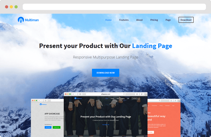 Multiman Responsive Multi Purpose Landing Page