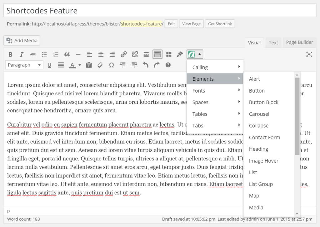 affa-shortcodes-editor