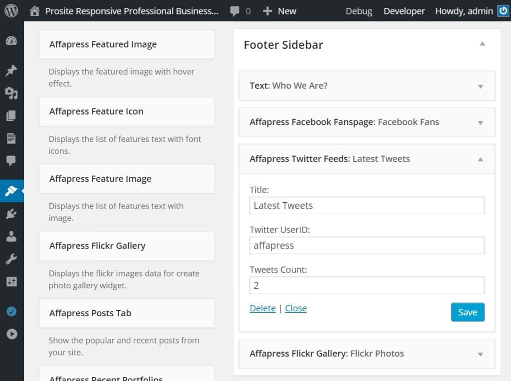 affa-twitter-feeds-widget