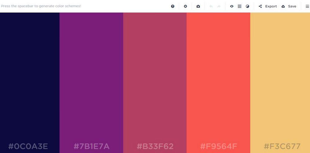 2017 Best Website Color Palette