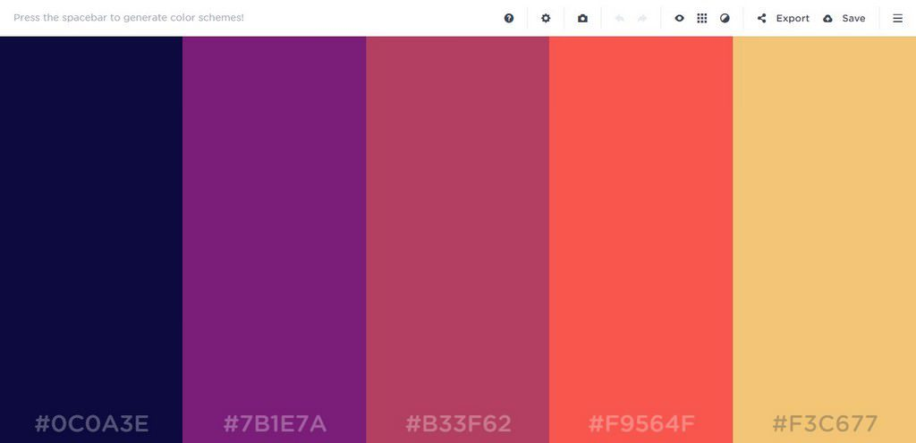 2017 Best Website Color Palette