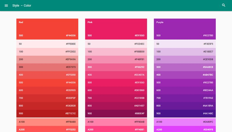 Material Google Color