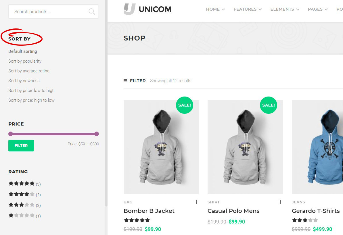 unicom-widgets-woocommerce-sorting