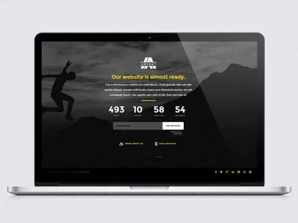 Advent Coming Soon Landing Page Template