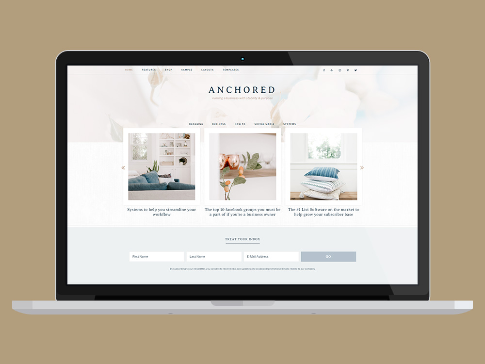 Anchored Business WP Theme