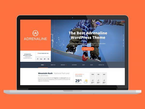 Andrenaline Travel WordPress Theme