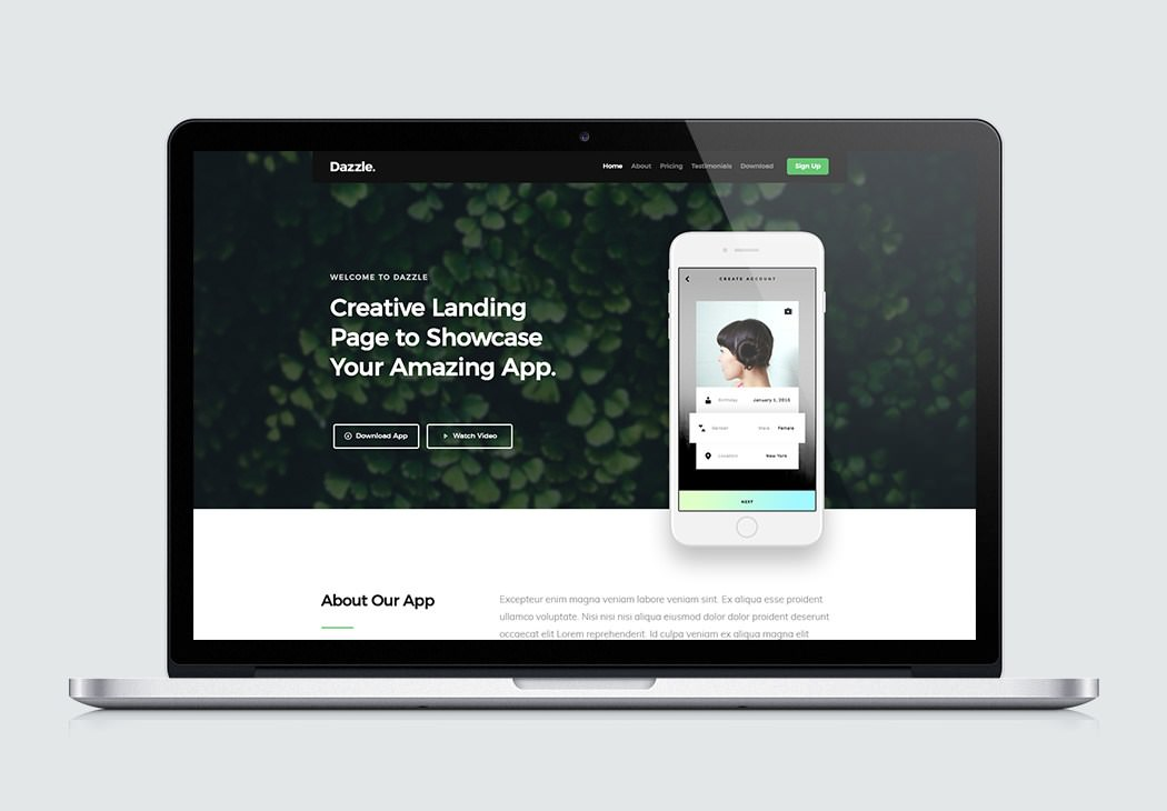 App Site Template Affapress