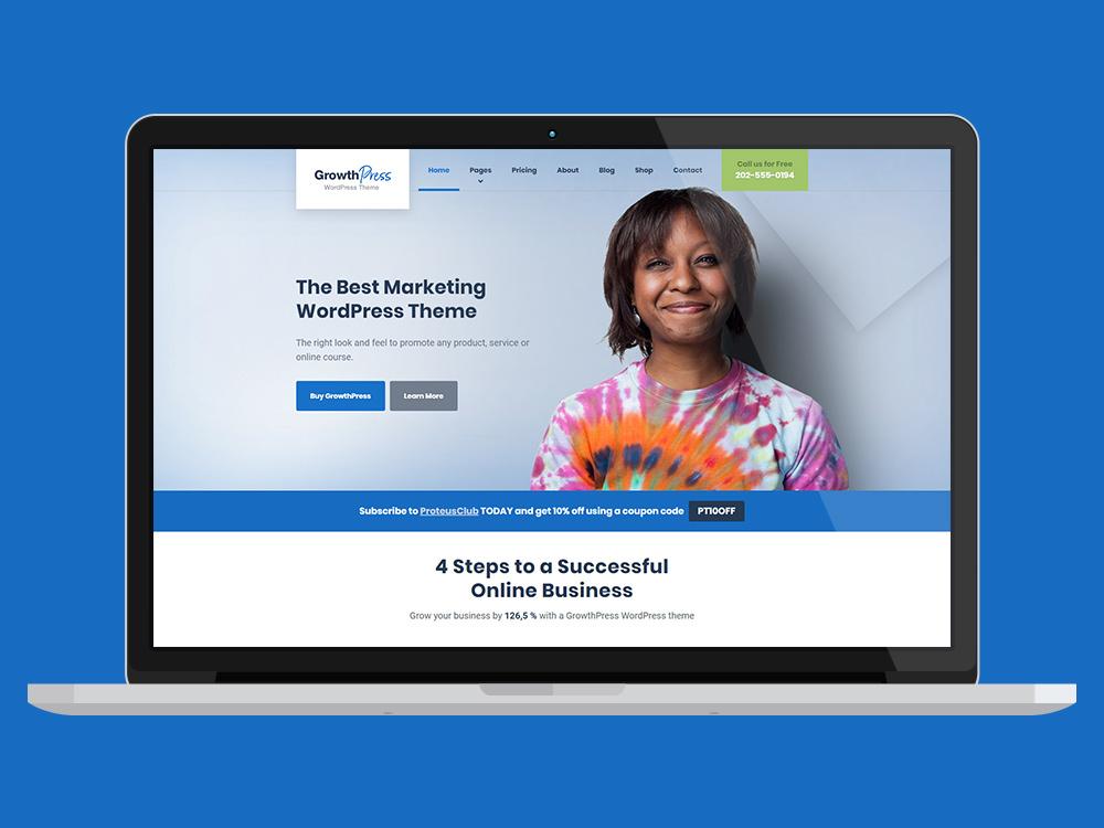 GrowthPress Business WordPress Theme