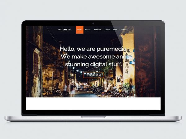 Puremedia Business Landing Page Template