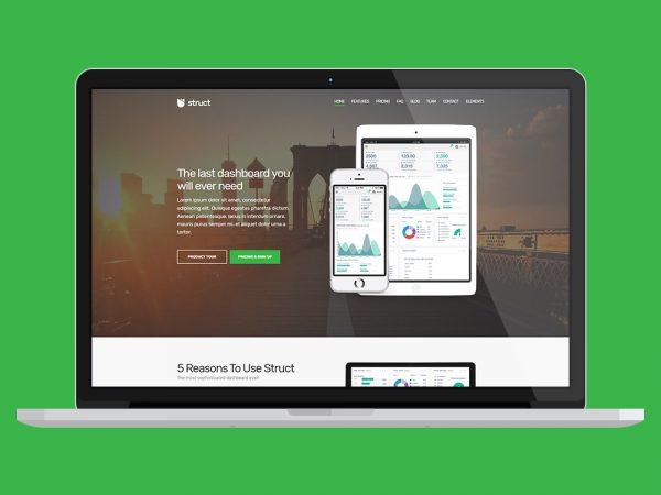 Struct App Showcase WordPress Theme