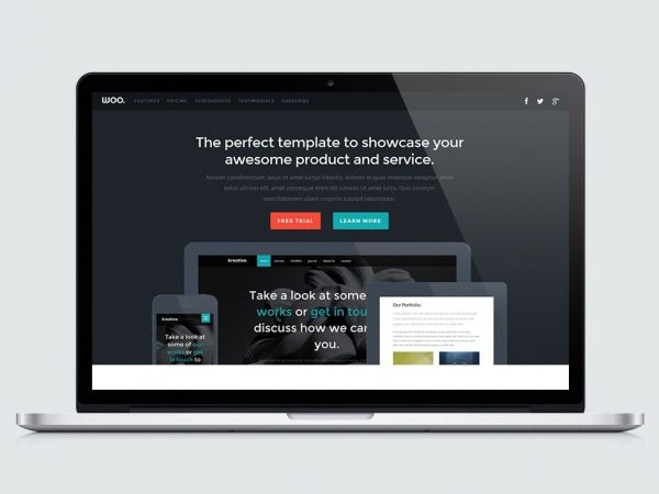 Woo Product Landing Page Template