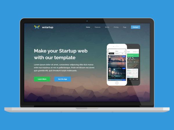 Wstartup Landing Page