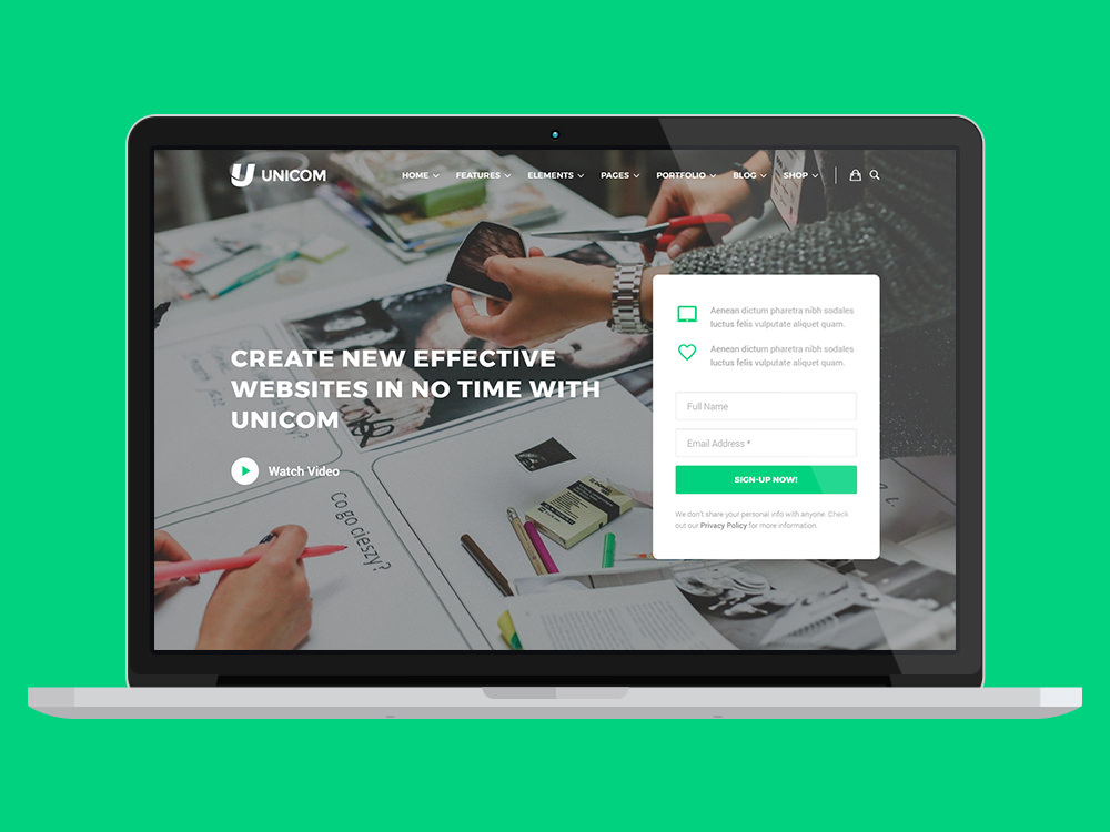 unicom-site-template